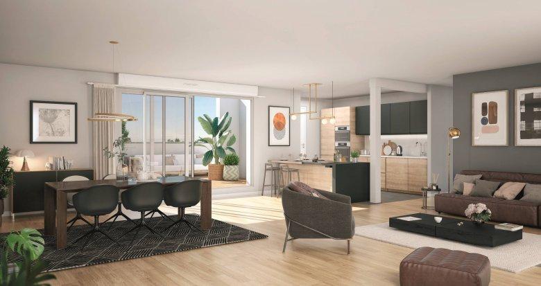 Achat / Vente appartement neuf Toulouse proche de la coulée verte des Amidonniers (31000) - Réf. 6250